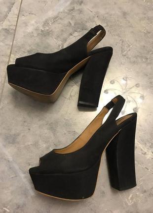 🆘🔥последняя цена до 30 сентября 🆘🔥    черные босоножки удобные на толстом каблуке