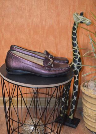 24,7 см . европа🇪🇺 geox , кожа . фирменные качественные комфортные туфли