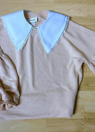 Базовый свитер оверсайз светр базовий отложной воротник свитер в корейском стиле