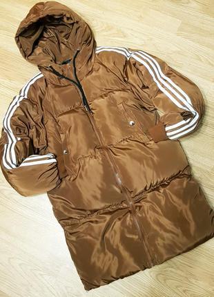 Спортивная, удлинённая куртка, пуховик