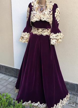 Бархат,велюр платье,золотое кружево,вышивка,вечернее,нарядное