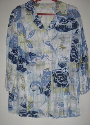 Распродажа рубашек 50-120 грн!!! желто-синяя тонкая хб