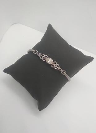 Винтажный жесткий браслет овальной формы 925