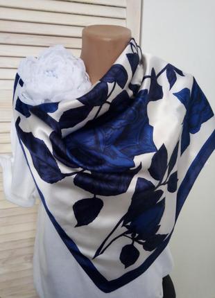 Платок шёлк винтаж 50-60ые годы