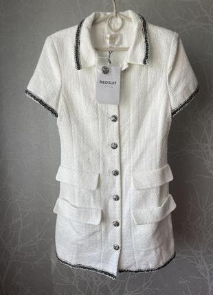Платье пиджак твидовое в стиле chanel
