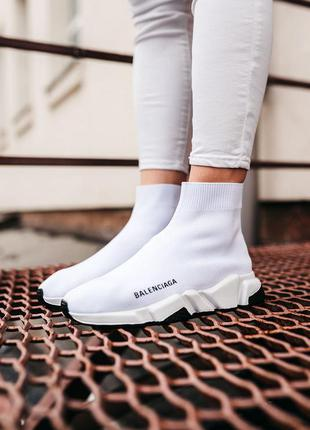 Кросівки білі speed trainer white
