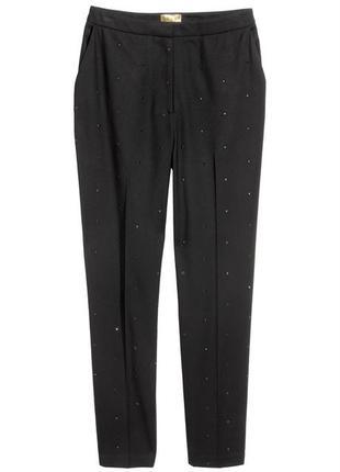 Классические брюки h&m с блёстками