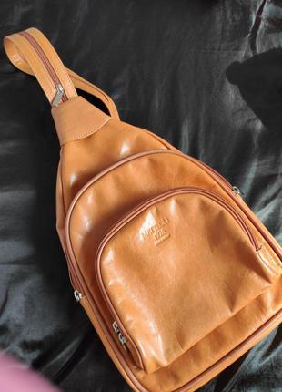 Кожаный рюкзак.италия.