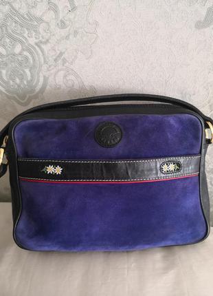 Красивая кожаная сумка michel jordi👜👜💣💥🌷