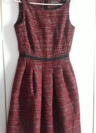 Обалденнон  брендовое шерстяное платье сарафан от marko'o polo 44-46