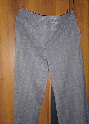 Широкие брюки в клетку большого размера
