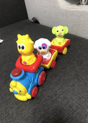 Музична іграшка bebelino паровозик із тваринами зі світловим ефектом