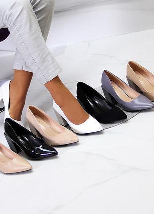 Туфли каблук 8,5 см люкс качество разные цвета 36-40р