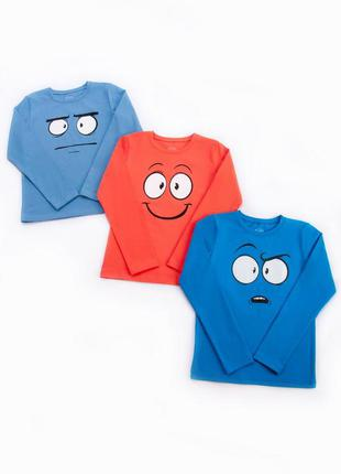 Кофта, футболка с длинным рукавом, комплект(3ш)
