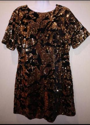 🌺 вечернее нарядное праздничное платье платье паетки р.50-52 🌺
