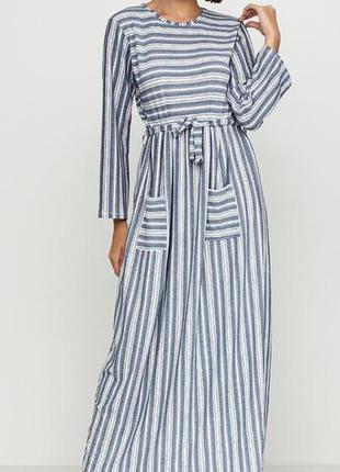 Комбинированное кэжуал платье