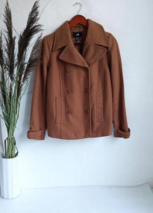 ✨натуральне , класне ,укорочене пальто вільного крою , вовна , шерсть ✨
