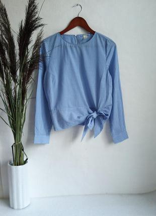 ✨неймовірна , актуальна блуза в смужку із бантом , oversize ✨