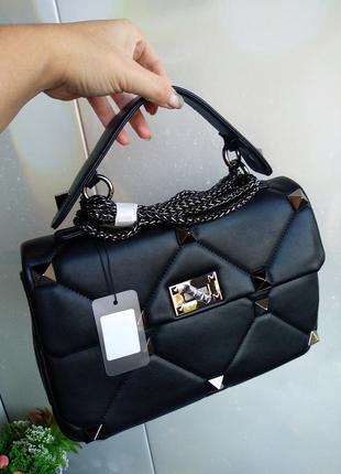 Женская сумка с шипами 30 см