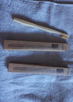Бамбуковые зубные щётки натуральные