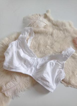 Белый мягкий бра лифчик бюстгальтер без косточек без поролона 36dd 80dd