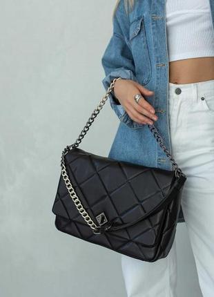 Женская сумка. жіноча сумка перешита (чорна).