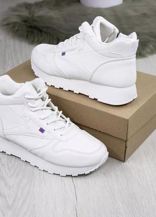 Жіночі черевички, білі.  еко-шкіра