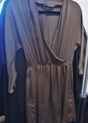 Платье с глубоким вырезом zara бесплатная доставка
