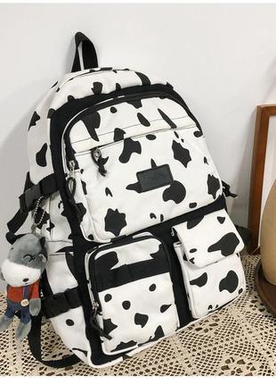 Молодежный рюкзак коровий принт