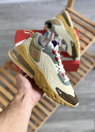 Мужские кроссовки nike air max 270 react x travis scott