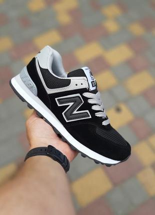Женские черные кроссовки new balance 574 36 размер