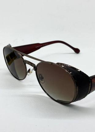 Очки солнцезащитные с шорами с поляризацией овальные авиаторы