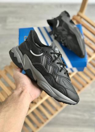 Мужские кроссовки adidas ozweego black/grey