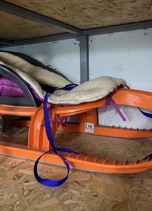 Санки khw snow tiger comfort, цвет оранжевый
