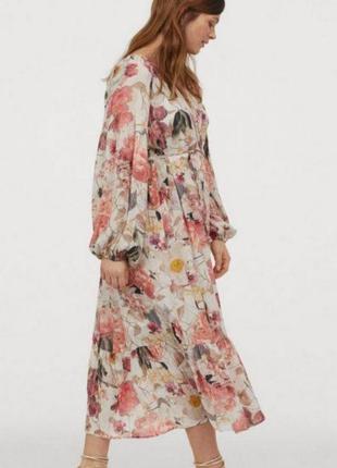 Стильное оверсайз платье из воздушной ткани h&m
