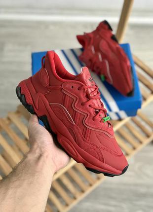 Мужские кроссовки adidas ozweego red