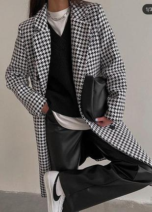 Пальто кашемир гусиная лапка