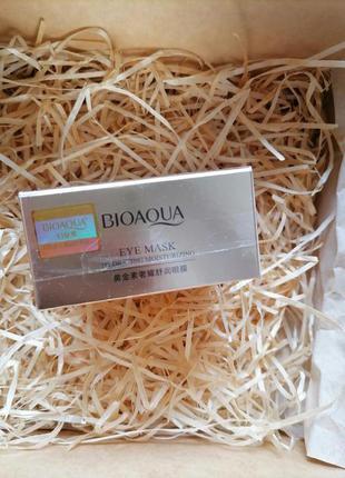 Патчи с золотом под глаза bioaqua 60 штук, с гиалуроновой кислотой морскими водорослями
