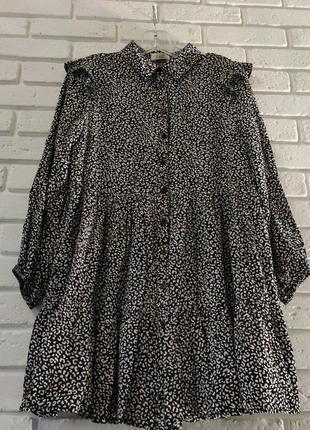 Шикарное ярусное платье