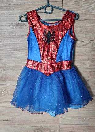 Детский костюм, платье спайдервумен, супервумен, супергел на 5-6 лет