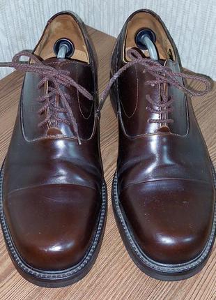 Фирменные кожаные мужские туфли lloyd коричневого цвета, германия, оригинал