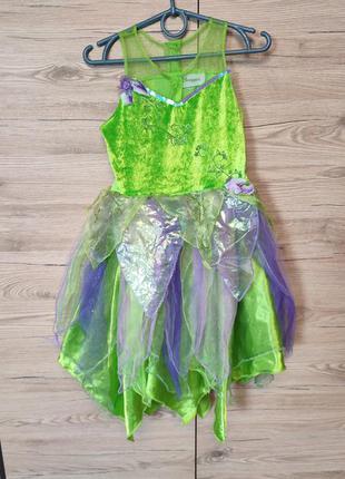 Детский костюм, платье ельф, эльф, фея, принцесса, бабочка на 5-6 лет
