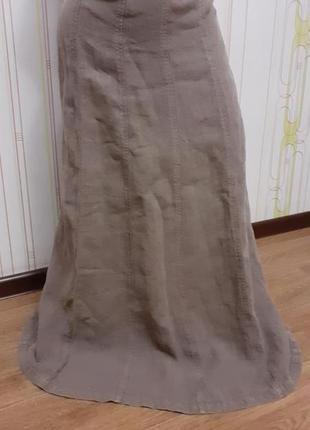 Фирменная льняная юбка миди hobbs. 100% лён. .