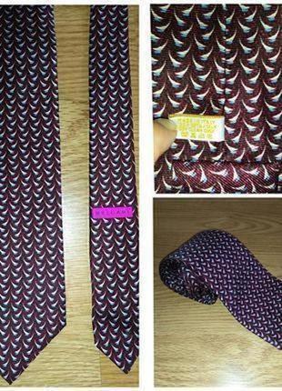 Bvlgari фирменный шелковый галстук