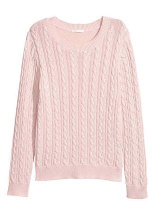 Пуловер в косичку, джемпер,свитер
