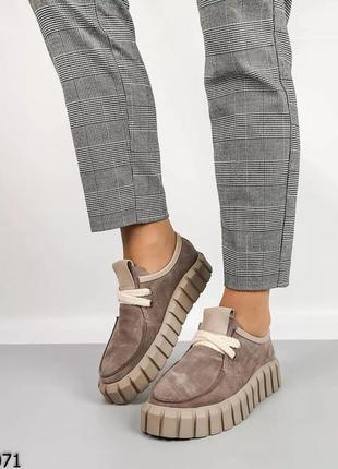 Жіночі туфлі arto.  натуральна замша.  колір - dusty pink