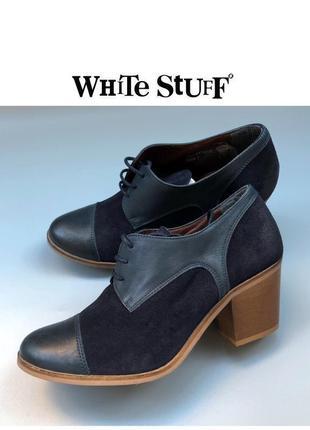 White stuff ботинки дерби броги демисезонные туфли на шнуровке на блочном каблуке rundholz owens