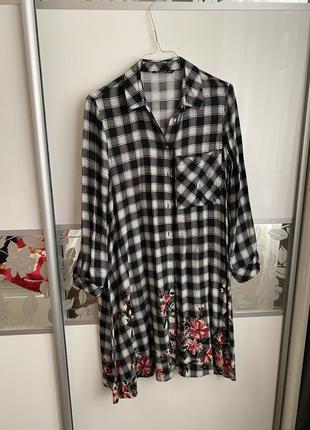Платье рубашка stradivarius