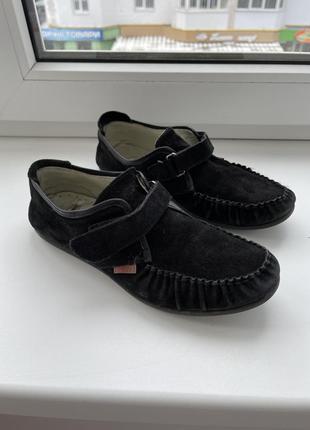 Туфлі натуральна замша на хлопчика