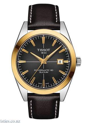 Мужские часы tissot gentleman powermatic 80 silicium solid 18k gold bezel